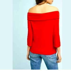 New Anthropologie Rosiers Off-The-Shoulder Top